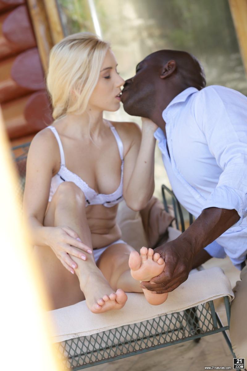 interracial sex outside