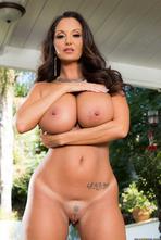 Huge Boobed Latina MILF Ava Addams Strips 05