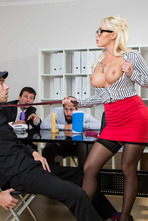Naughty Secretary Christina Shine Fucks With Her Boss 01