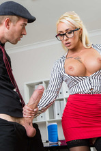 Naughty Secretary Christina Shine Fucks With Her Boss 03