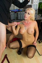 Naughty Secretary Christina Shine Fucks With Her Boss 19