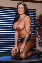 Huge Boobed MILF Simone Garza Stripping 10
