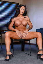 Huge Boobed MILF Simone Garza Stripping 12