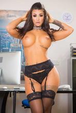 Susy Gala Big Boobed MILF Sexretary Strips 04