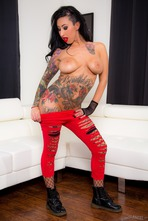 Tattooed Punk Babe Lily Lane Strips And Spreads 05