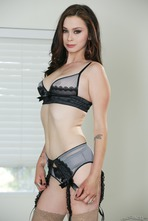 Hot Brunette Vera Drake Strips Off Her Sexy Lingerie 04
