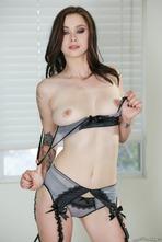 Hot Brunette Vera Drake Strips Off Her Sexy Lingerie 08