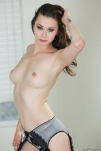 Hot Brunette Vera Drake Strips Off Her Sexy Lingerie 11