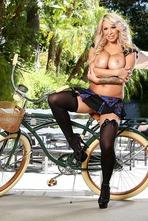Busty Blonde Alyssa Lynn Masturbates Outside 12