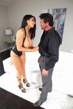 Busty Pornstar Romi Rain Titfucked And Facialized 00