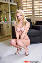 Busty Blonde Babe Alix Lynx Threw Off Her Colorful Set 10