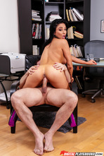 Busty Pornstar Audrey Bitoni Makes Hard Sex With Her Boss 14
