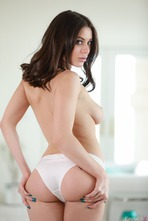 Sexy And Busty Lana Rhoades Strips To Naked 08