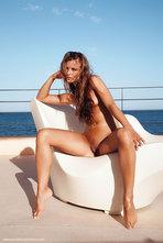 Carina Hot Girl Posing Naked By The Sea 10