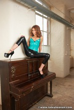 Latex Lady With Piano 01