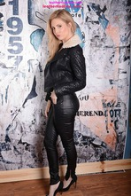 Louise Shows Off Her Tight Body In Leather Pants 03