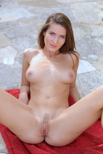 Beautiful Girl Elina Having Some Naked Fun Outside 14