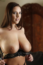 Angela White Big Boobed MILF Pornstar Strips 04