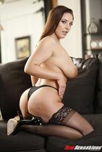 Angela White Big Boobed MILF Pornstar Strips 07