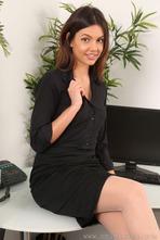 Sexy Secretary Abigail Strips 00