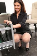Sexy Secretary Abigail Strips 02