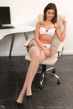 Sexy Secretary Abigail Strips 08