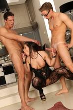 Gorgeous Pornstar Athina Takes Two Dicks 03