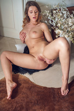 Hot Babe Sybil Masturbates In Black Lace 12