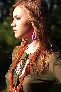 Hot Girl In Seethru Green Top