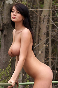 Lin Busty Nude Girl By The Lake