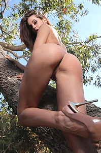 Lara Is Naked Outdoors