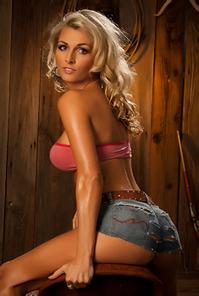 Alicia Secrets Hot Blonde Cowgirl