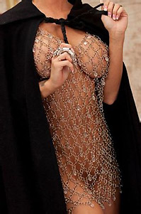 Jessica Jaymes Strips From Chainmail