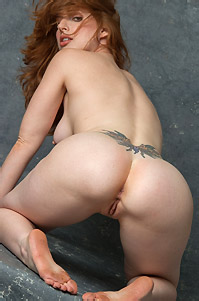 Naked Redhead Amber Has Hot Ass