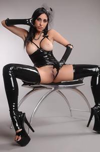 Slutry In Black Latex