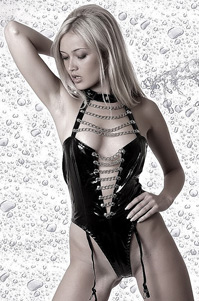 Blonde Nelly Leather Lingerie