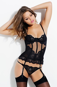Sexy Lingerie Model