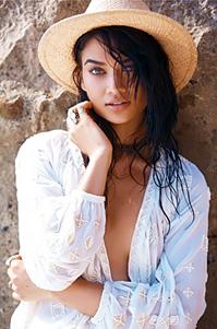 Shanina Shaik Topless On The Beach