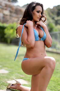 Anastasia Harris Hot In Blue Bikini