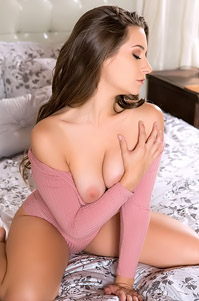 Cassidy Klein Spreading On A Bed