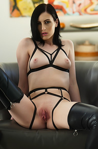 Sexy Slut Alex Harper Spreading In Extreme Lingerie