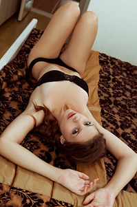 Lissome Lovely Emma Sweet Stretches Lazily In Bra And Panties