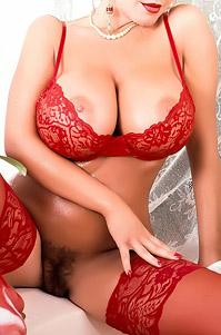 Busty Dakota Kelly Wearing Red Lingerie