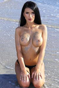 Sexy Babe On The Beach
