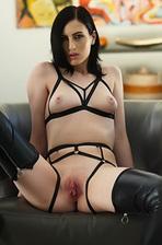 Sexy Slut Alex Harper Spreading In Extreme Lingerie