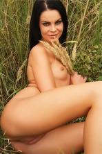 Naked Brunet