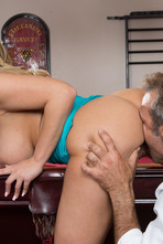 Big Boobed Olivia Austin Gets Nailed On The Pool Table 04