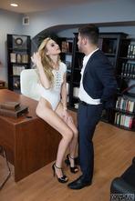 Hot Blonde Babe Alexa Grace Fucked On The Desk 00