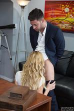 Hot Blonde Babe Alexa Grace Fucked On The Desk 01